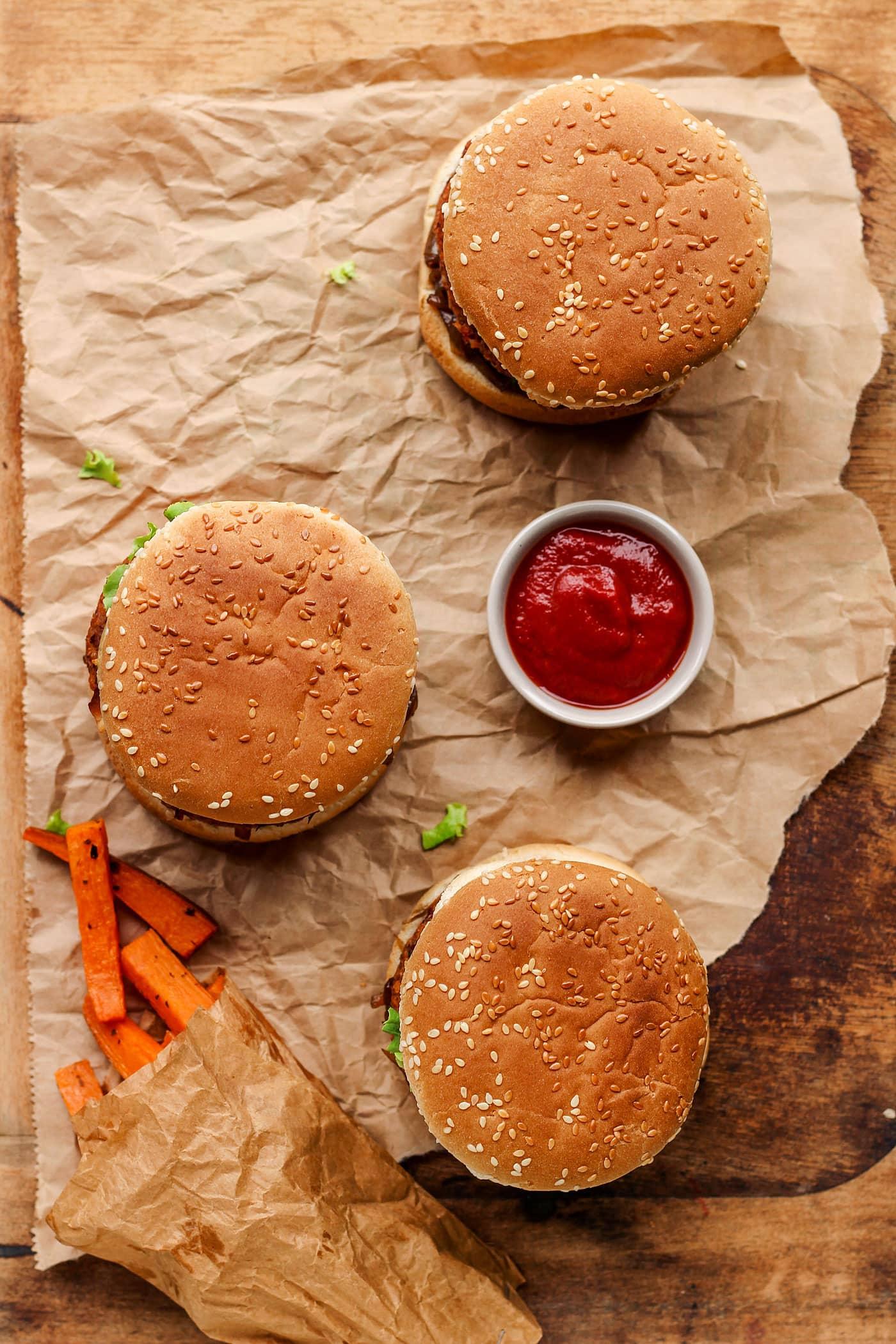 Vegan Pan-Seared Foie Gras Burgers