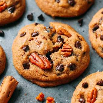 Awesome Pecan Chocolate Chip Cookies (Vegan + GF)