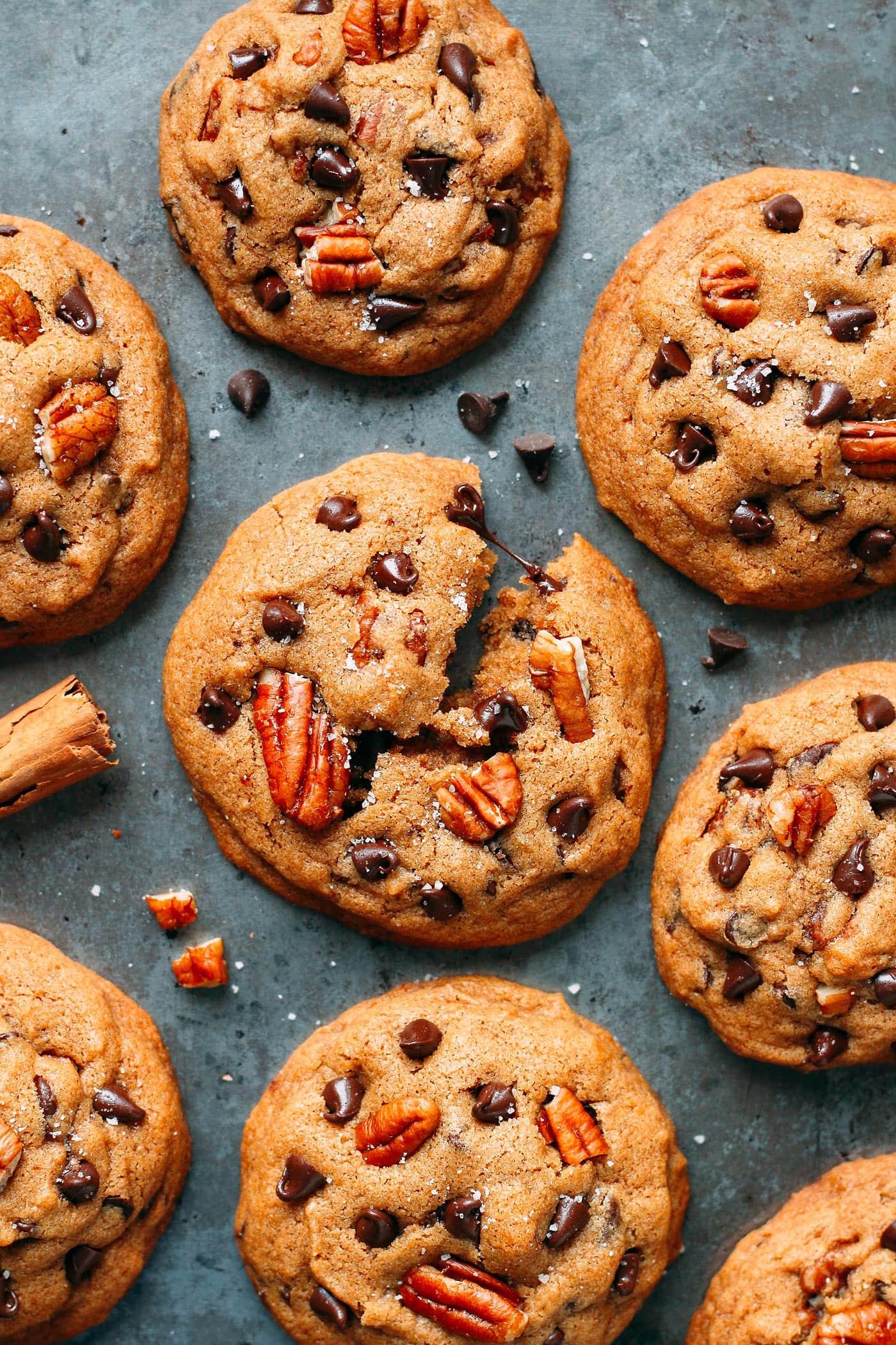 Awesome Pecan Chocolate Chip Cookies (Vegan + GF)