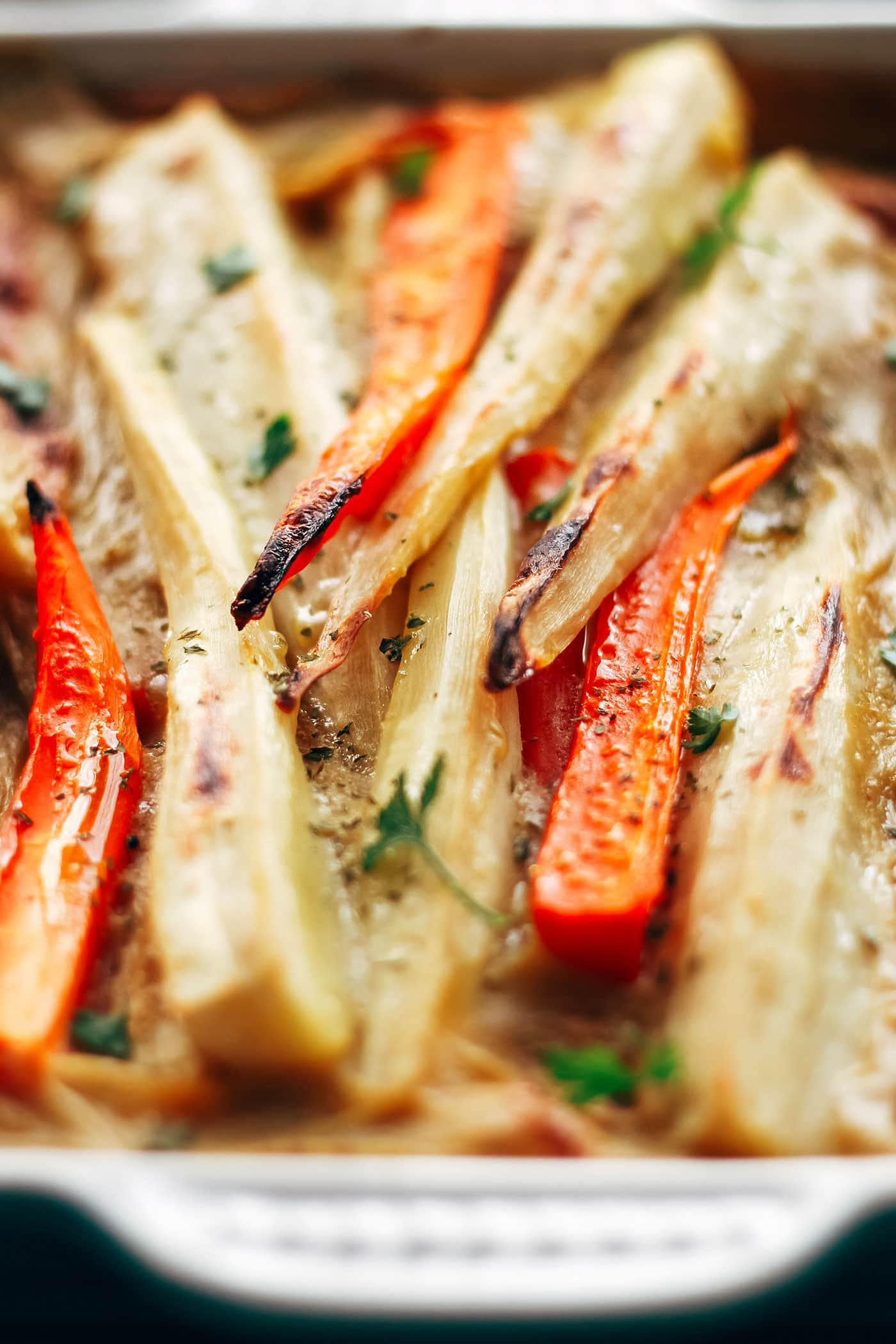 Easy Parsnip & Carrot Bake