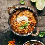 Fire Roasted Eggplant Dal