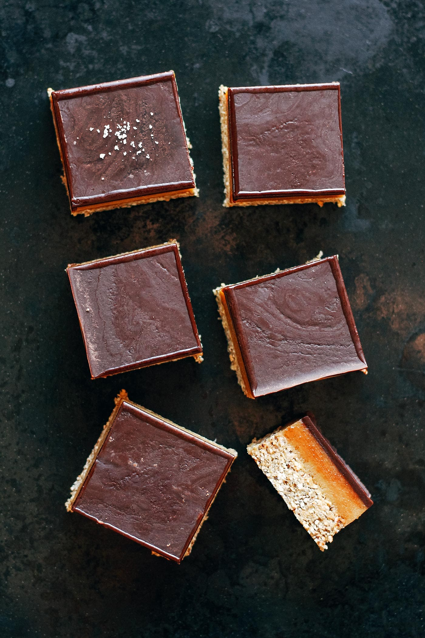 Popped Grains Salted Caramel Bars