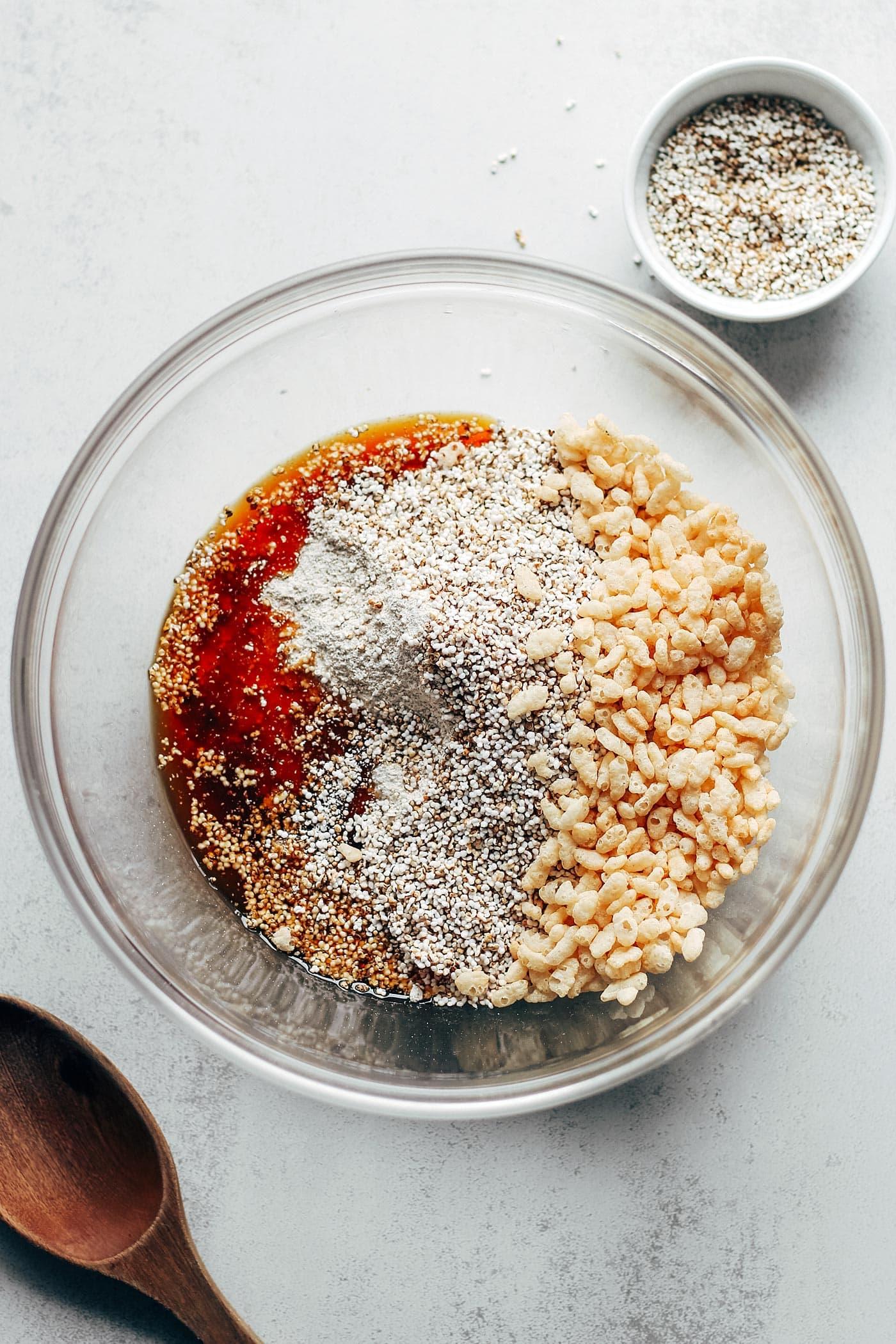 Popped Grains Salted Caramel Bars