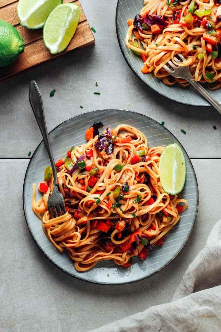 Sweet & Spicy Korean Noodles (Vegan)