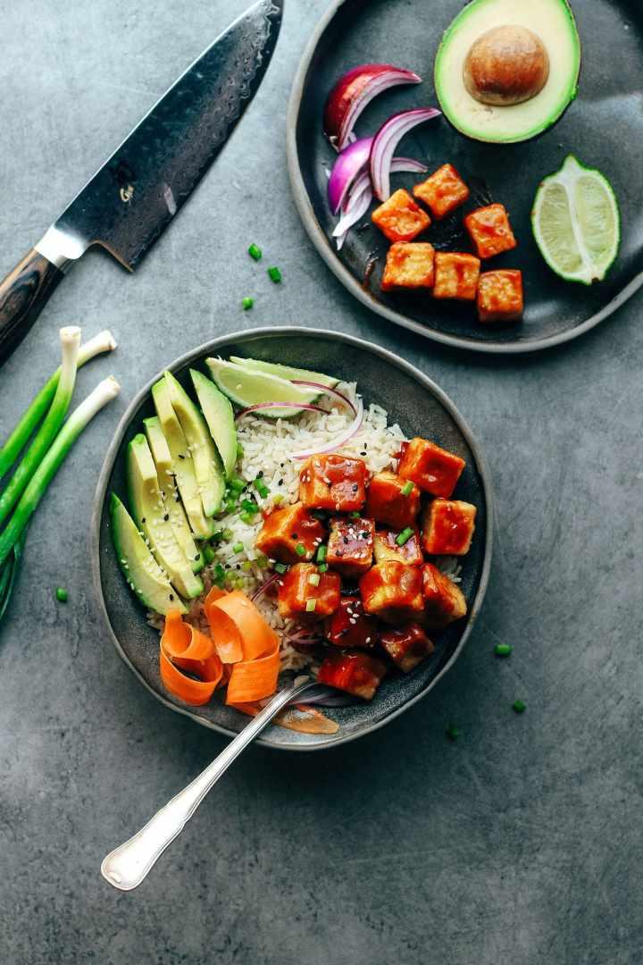 Crispy Chili Tofu Bowls