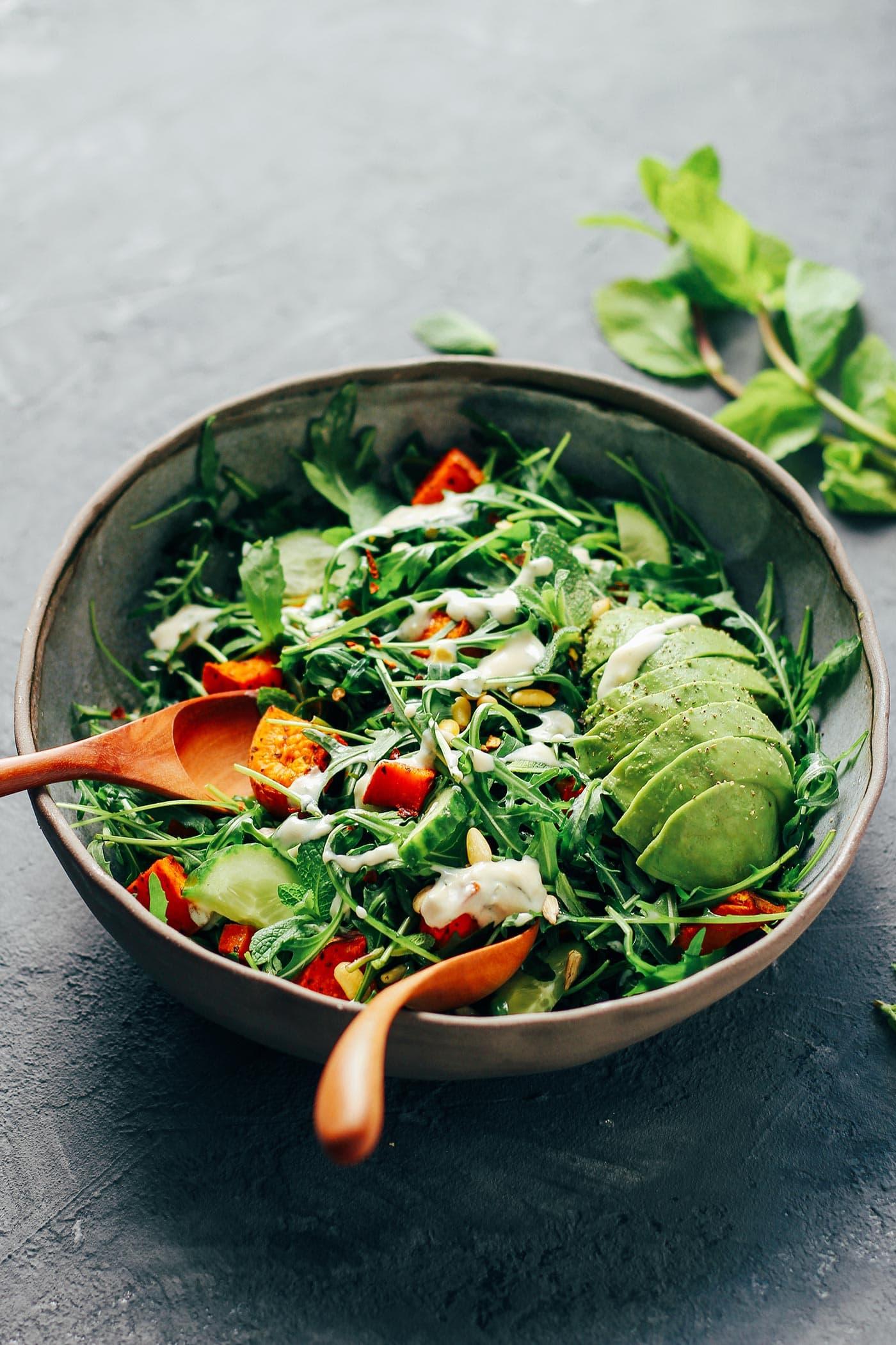Arugula & Sweet Potato Salad