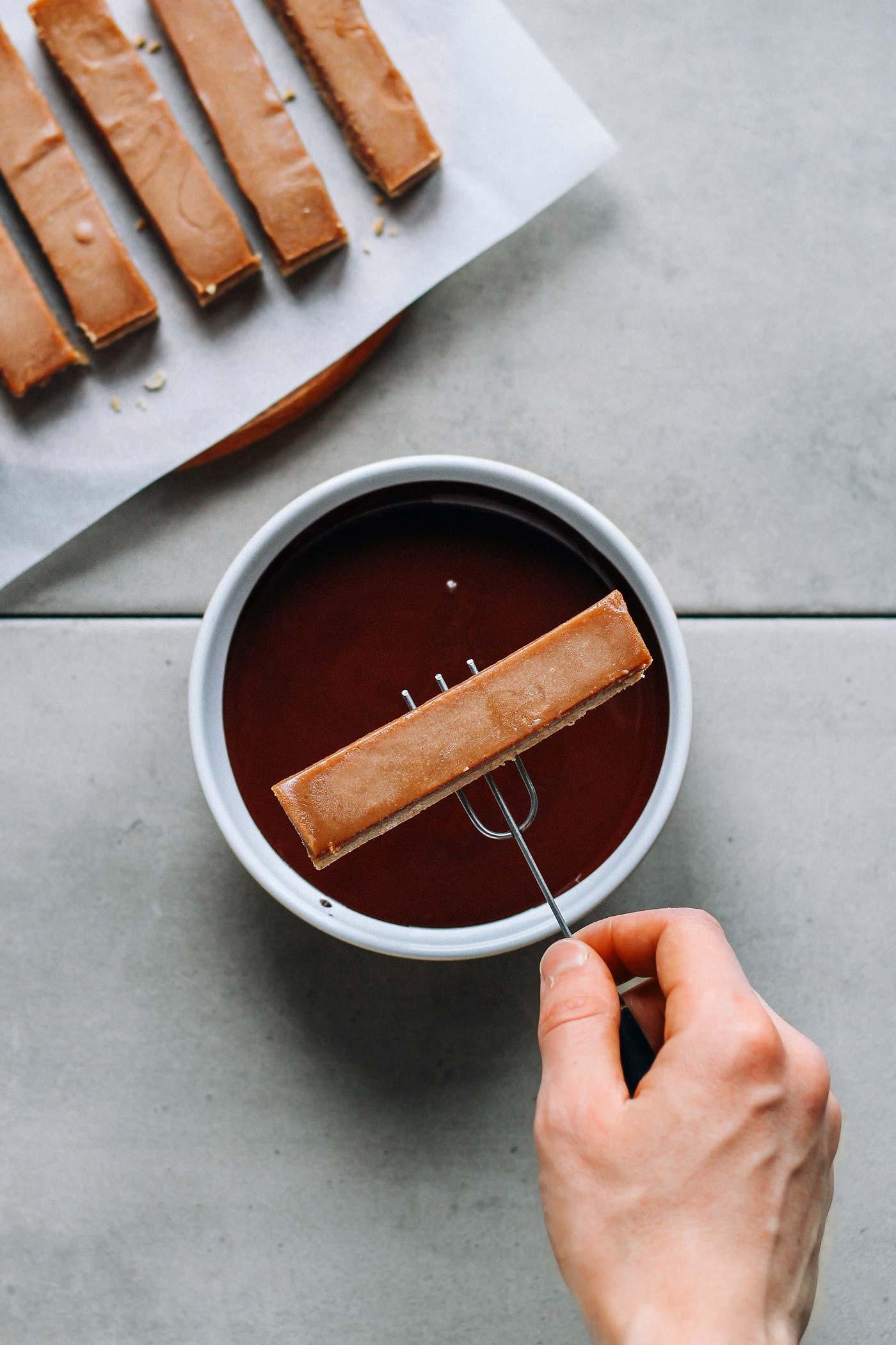 Healthier Chocolate Candy Bars (Vegan + GF)