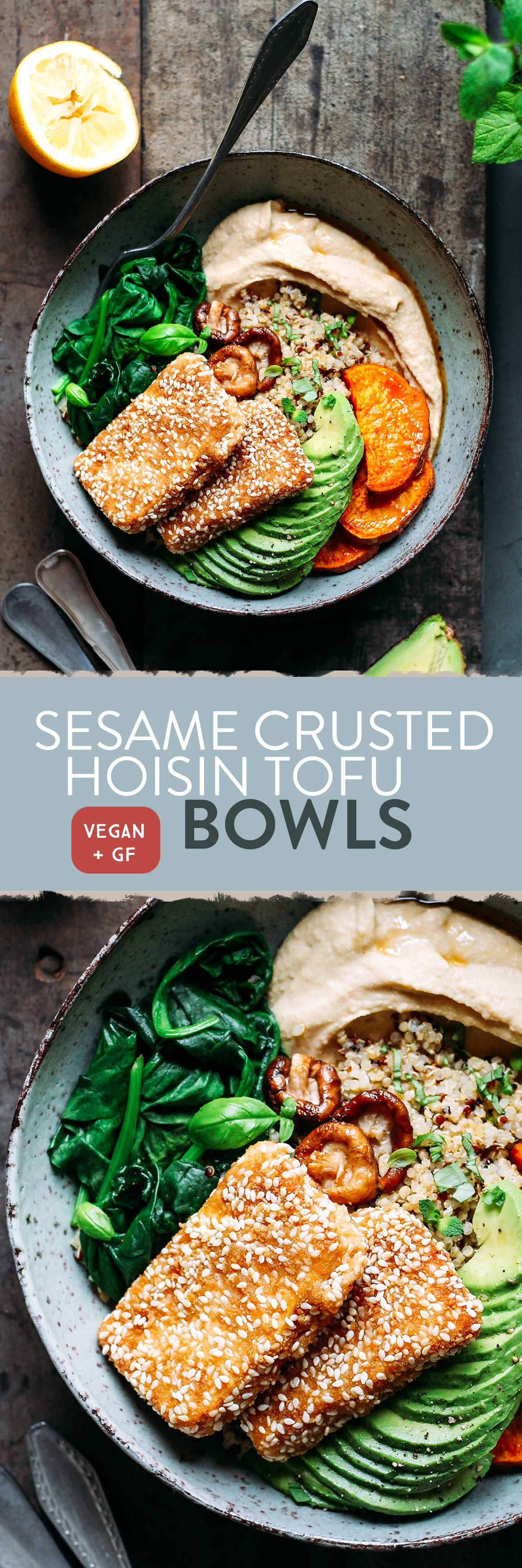 Sesame Crusted Hoisin Tofu Bowls