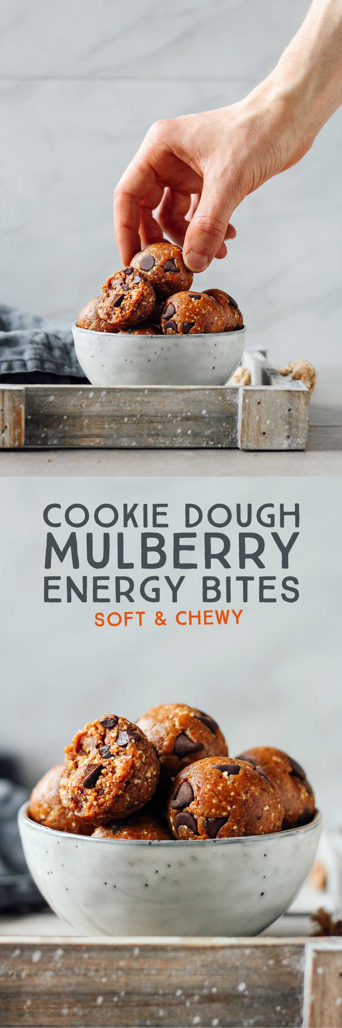 Cookie Dough Mulberry Energy Bites