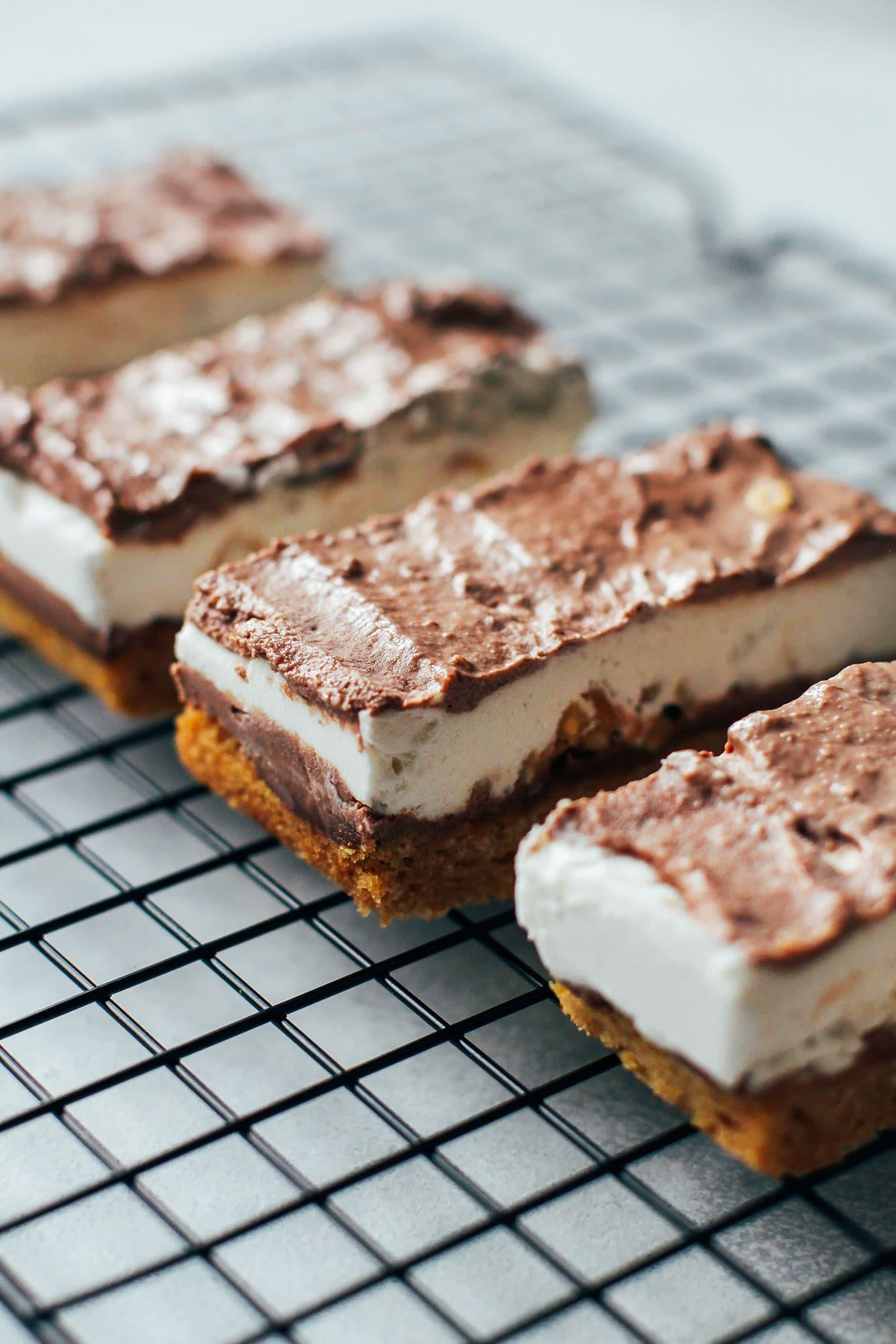 3-Layer Vanilla & Peanut Chocolate Bars