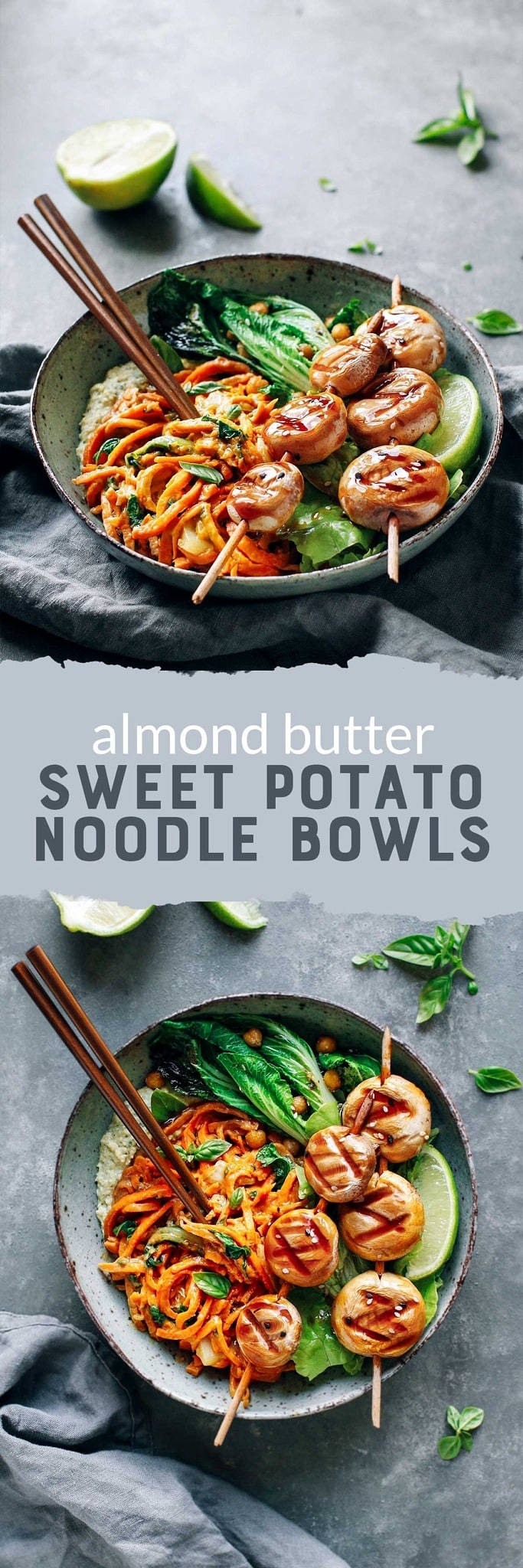 Almond Butter Sweet Potato Bowls