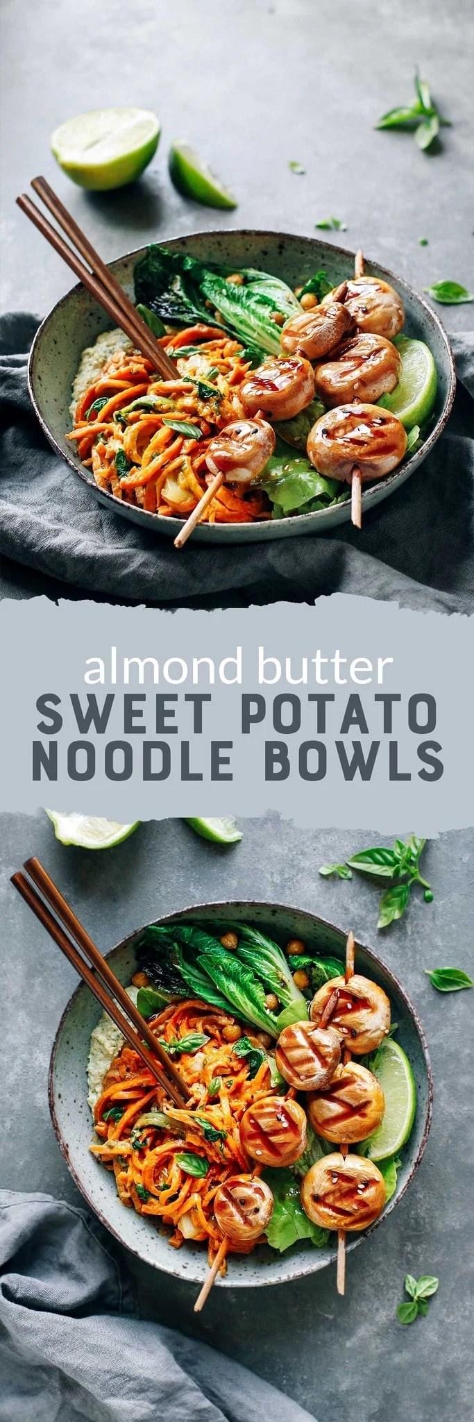Almond Butter Sweet Potato Bowls