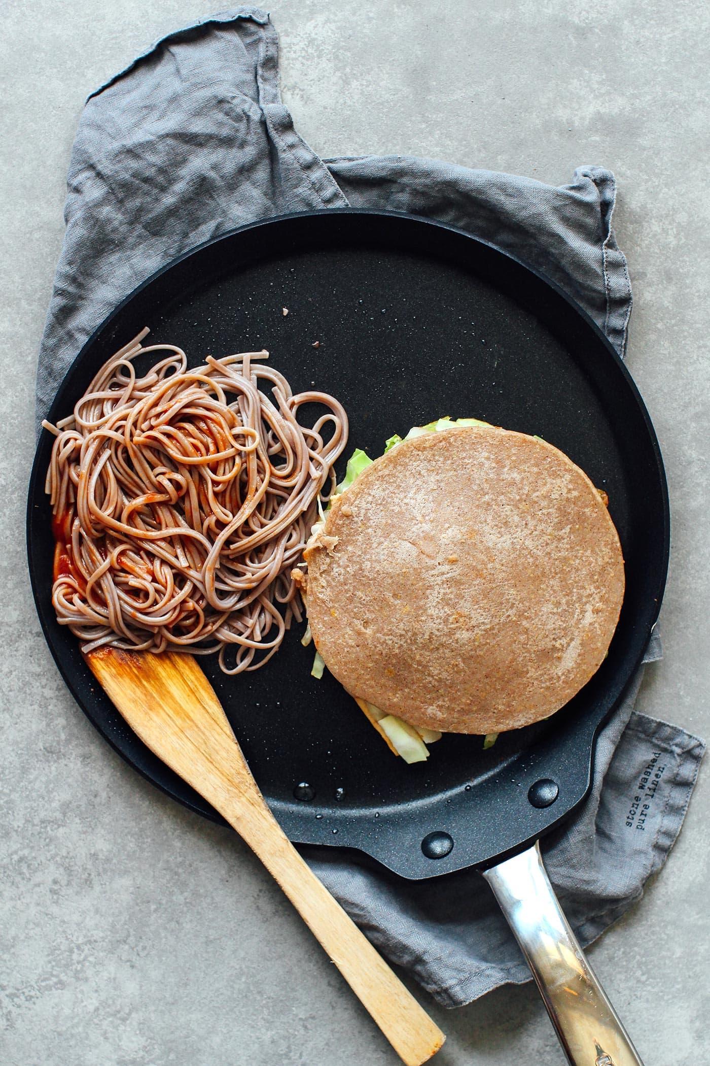 Vegan Hiroshima-Style Okonomiyaki