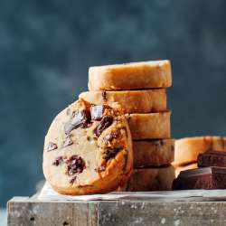 Slice & Bake Chocolate Chunk Cookies (Vegan + GF)
