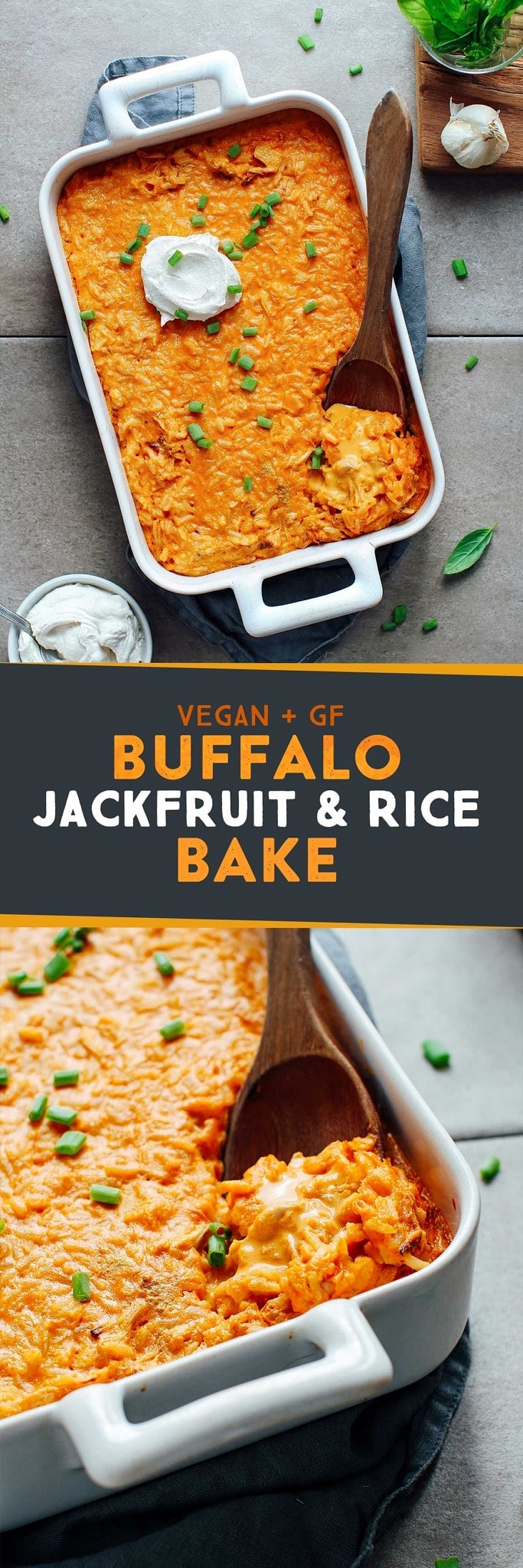Buffalo Jackfruit & Rice Bake