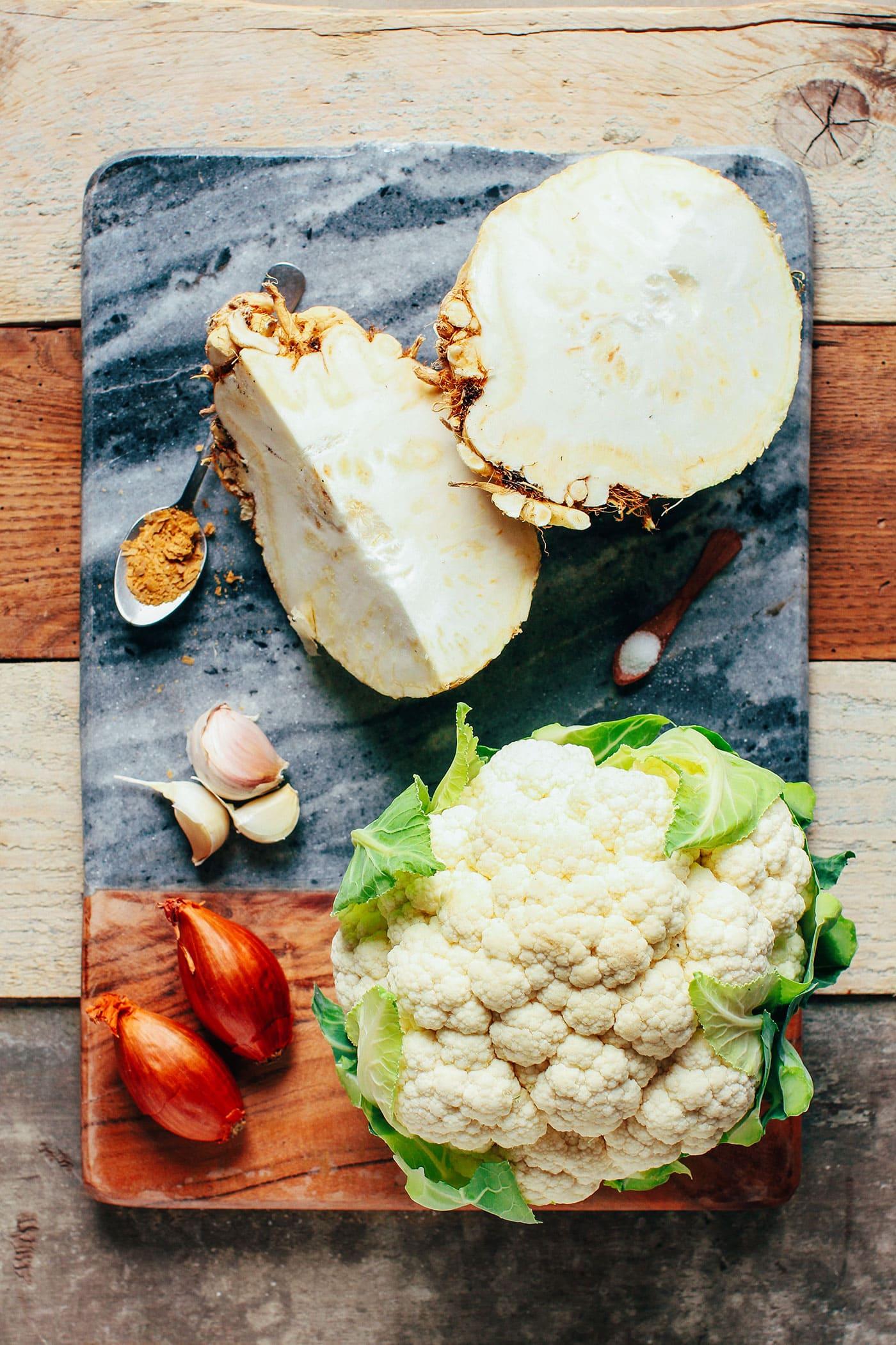 Celery Root & Cauliflower Purée