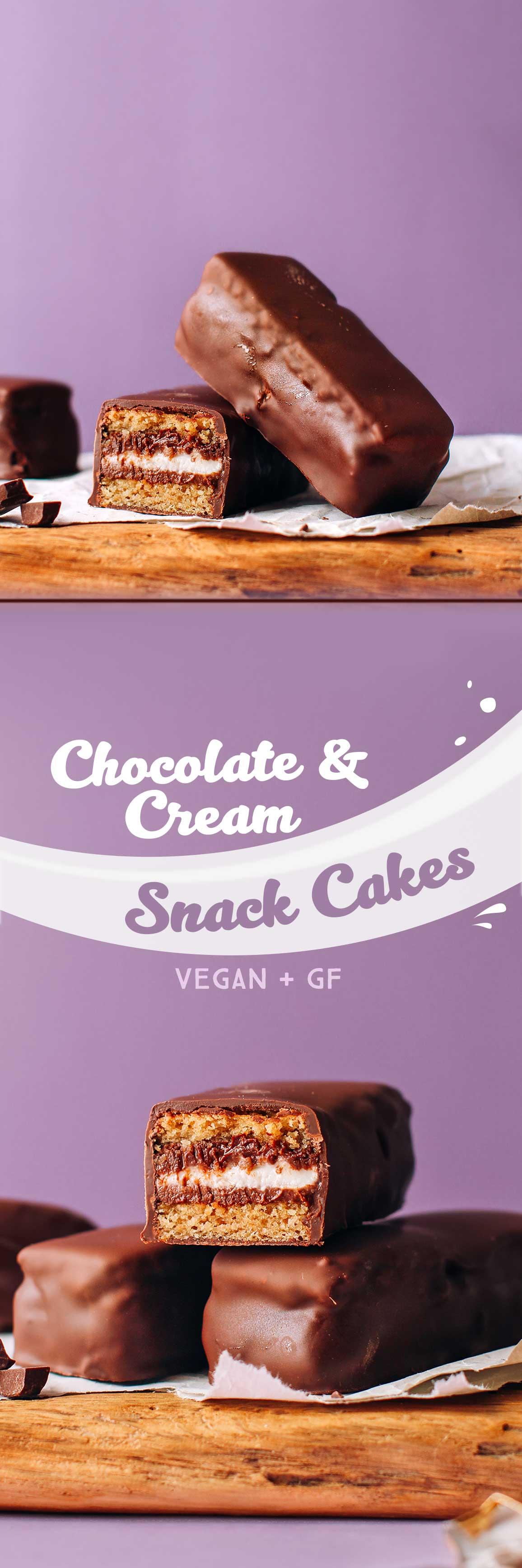 Tender Chocolate & Cream Cakes (Vegan + GF)