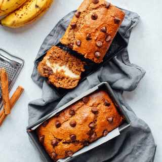 Vegan Cream Cheese Banana Bread (GF)
