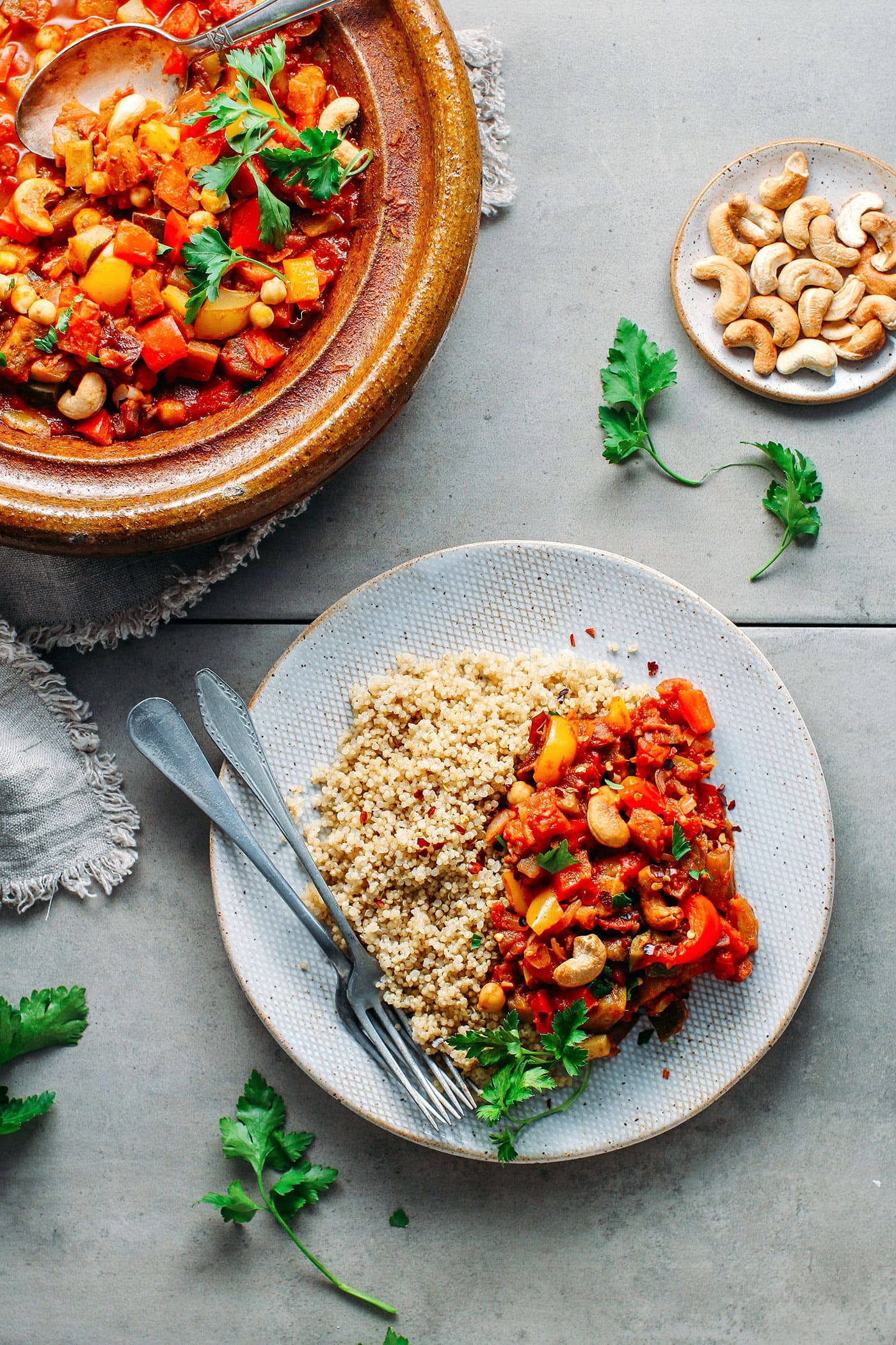 Chickpea & Cashew Vegetable Tagine