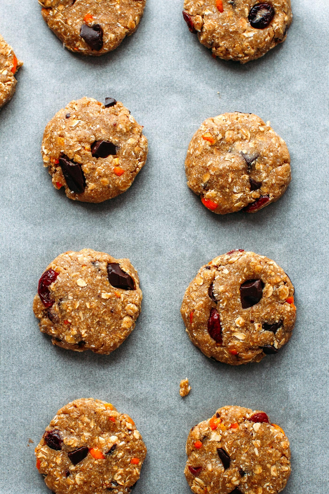 Orange, Cranberry & Cardamom Oatmeal Cookies