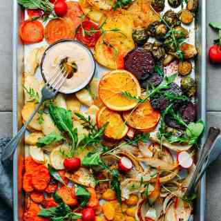 Sheet-Pan Roasted Rosemary Winter Vegetables
