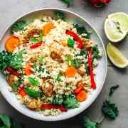 Basil & Mint Cauliflower Couscous Salad