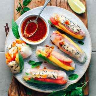 Sesame Crusted Tofu & Mango Summer Rolls