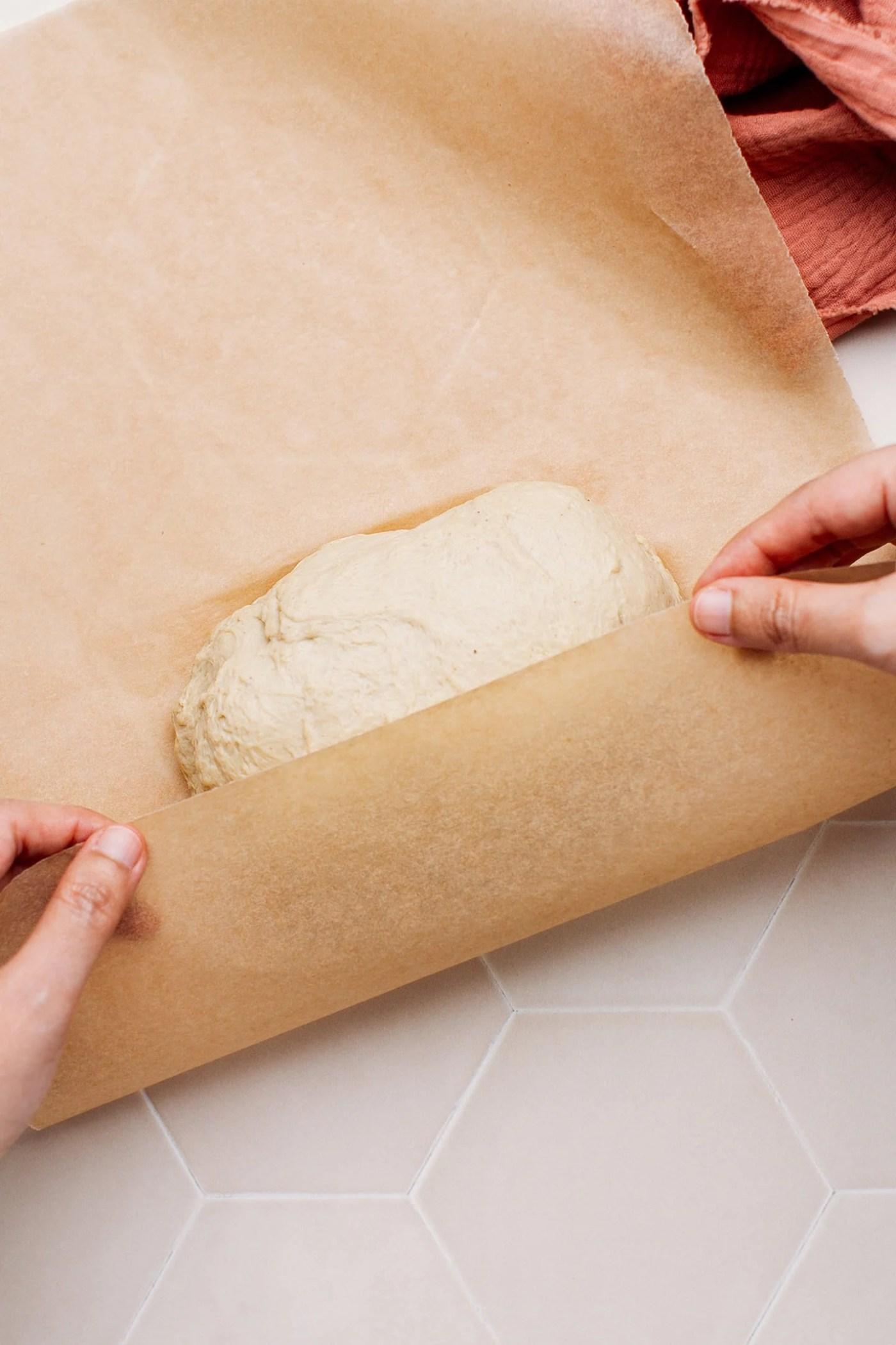 Vegan chicken loaves in instant pot liner.