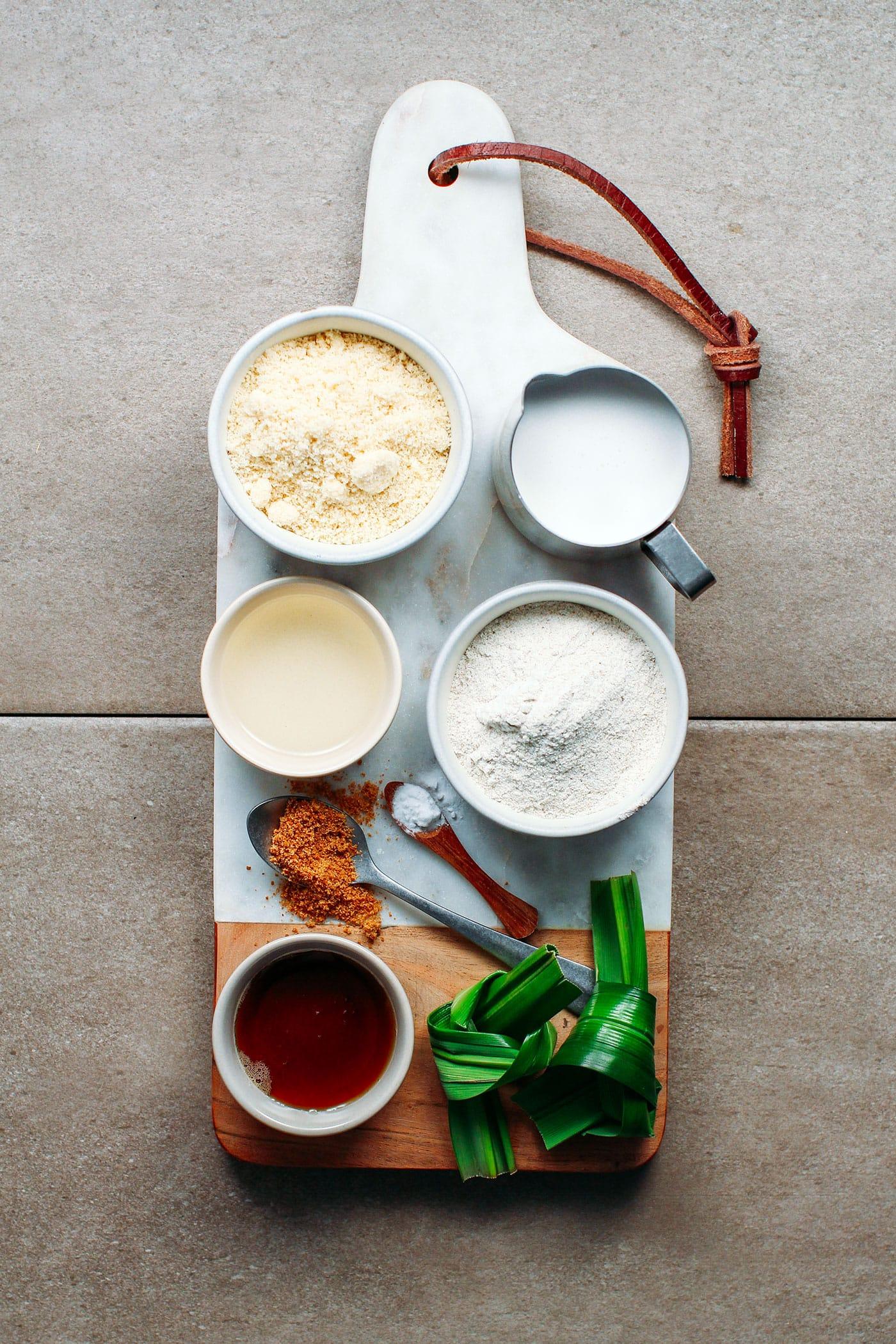 Pandan Coconut Bread (Vegan + GF)