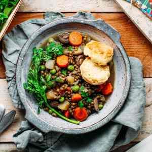Mrs Weasley's Lentil & Mushroom Stew