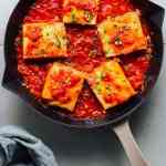 Stuffed Tofu in Spicy Tomato Sauce