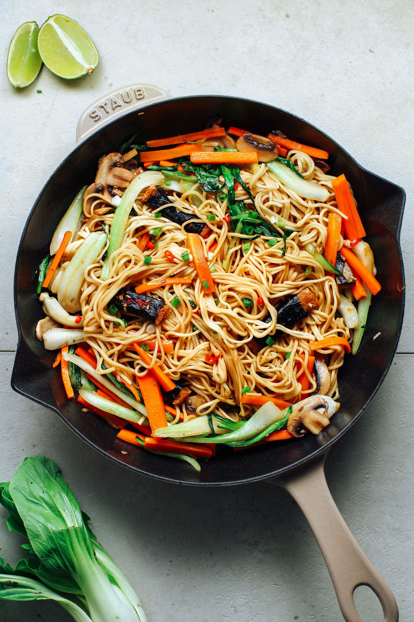 Seaweed Tofu Stir Fry Noodles Full Of Plants
