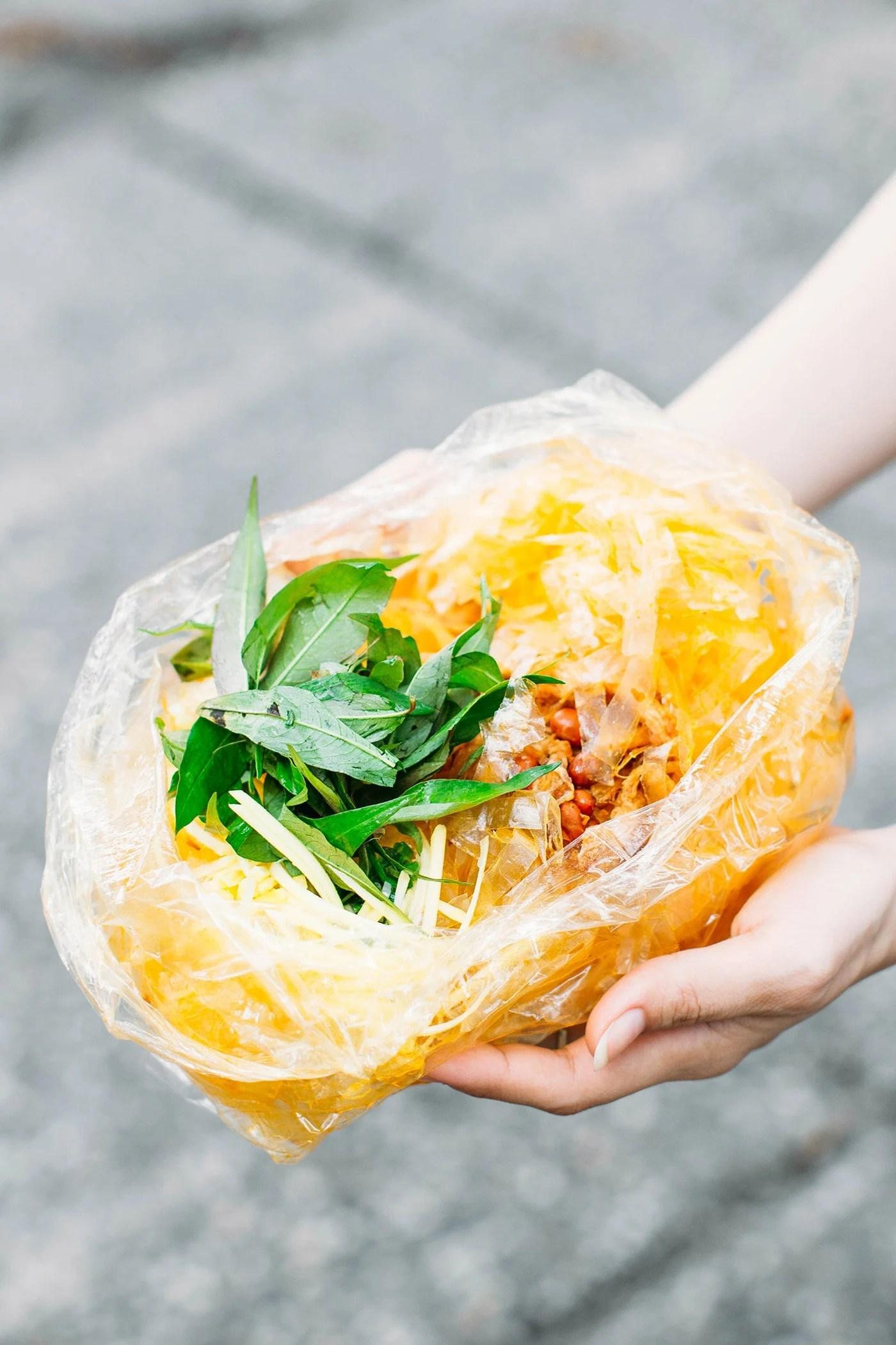 A Guide to Eating Vegan in Viet Nam - Bánh Tráng Trộn