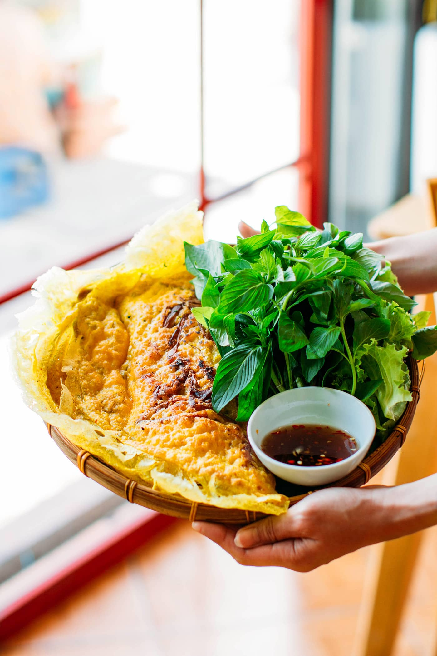 A Guide to Eating Vegan in Viet Nam - Banh Xeo