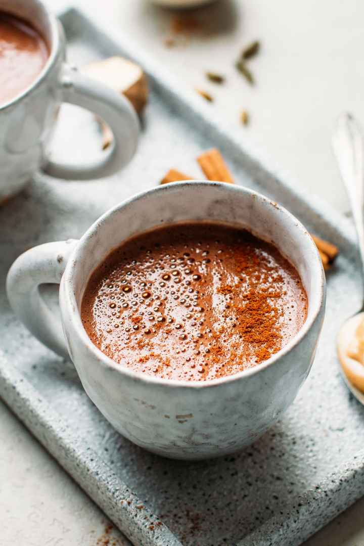 Salted Chai Cashew Butter Hot Chocolate