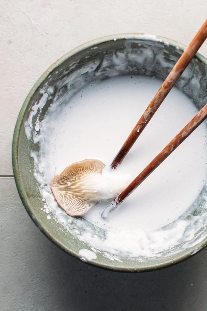 Easy Crispy Mushroom Tempura (Vegan + Gluten-Free)