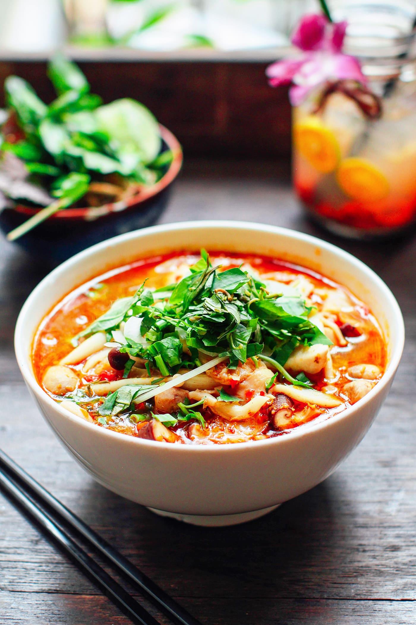 A Guide to Eating Vegan in Viet Nam - Bun Bo Hue