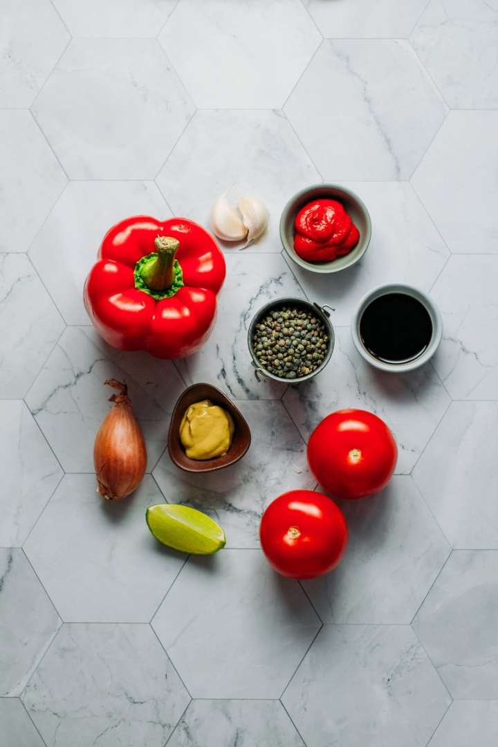 Green Lentil & Red Pepper Dip