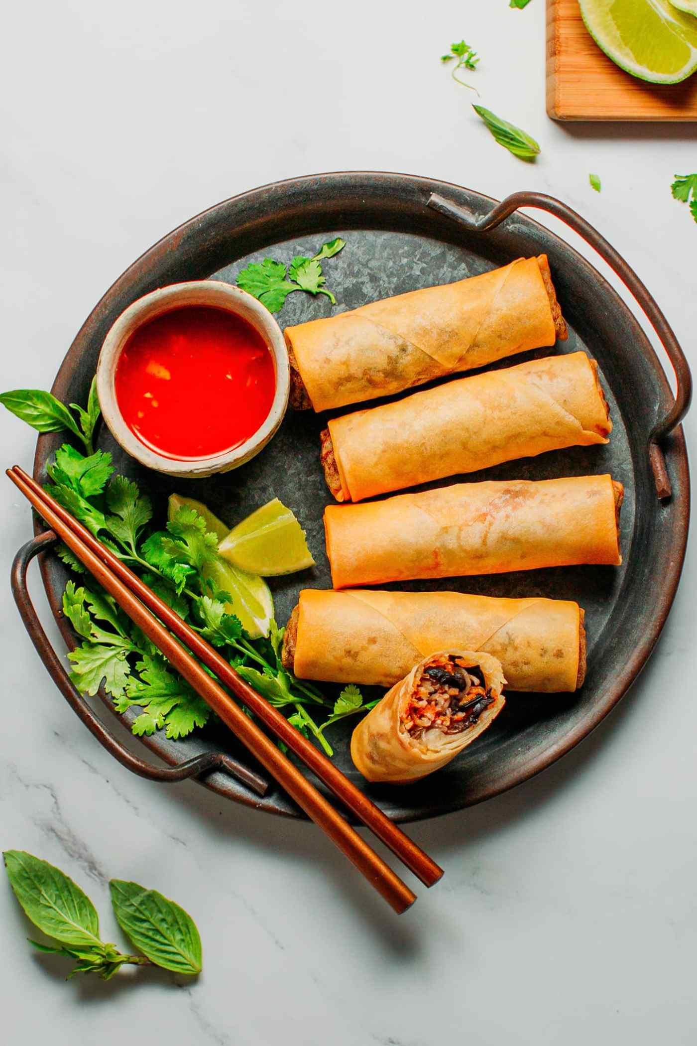 Vegan Egg Rolls (Vietnamese Inspired!)