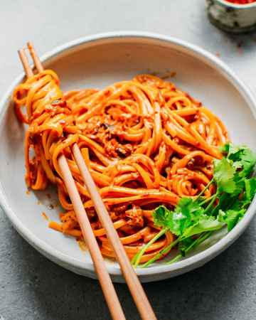 10-Minute Chili Almond Butter Noodles