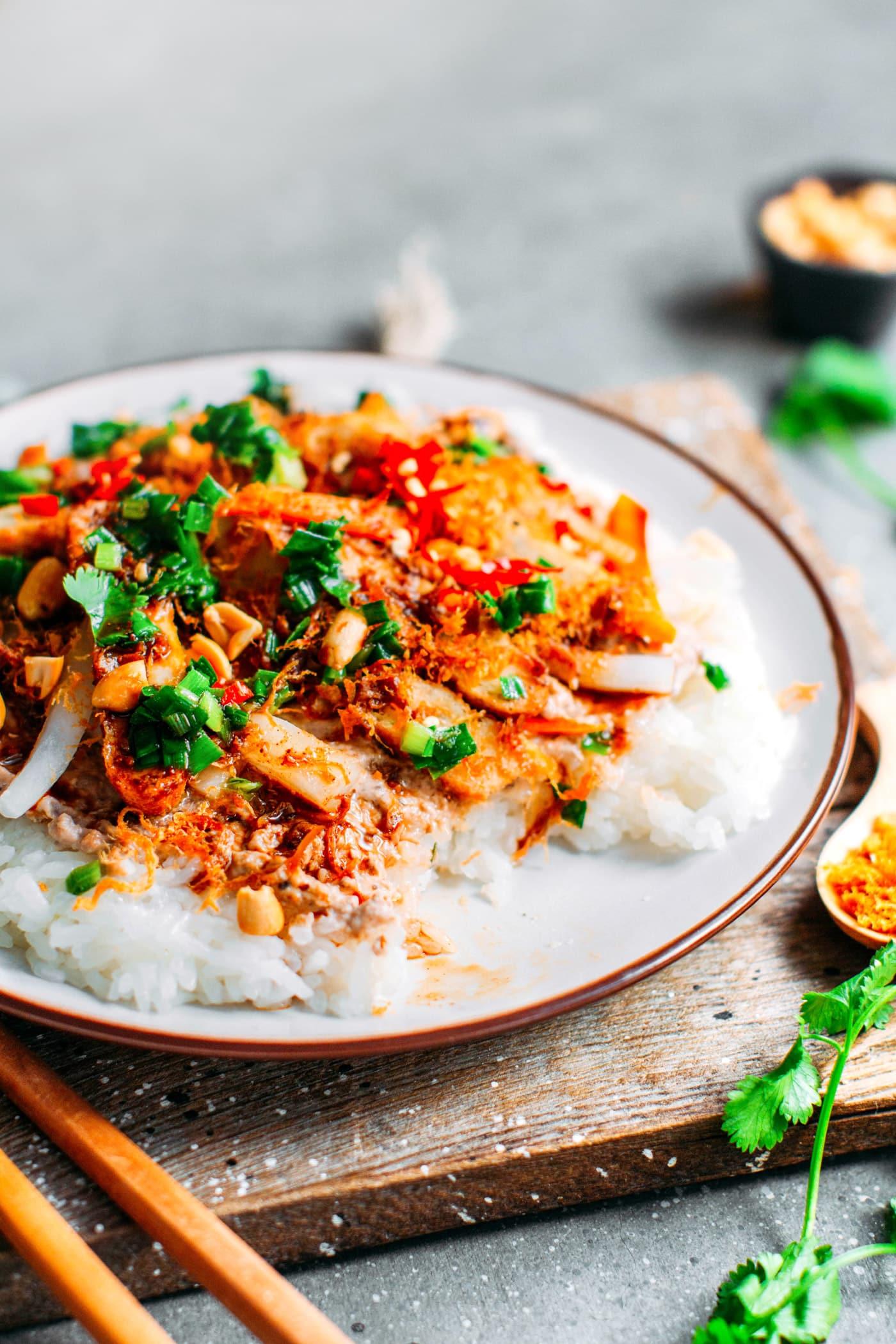 Vietnamese Savory Sticky Rice (Xôi Mặn)