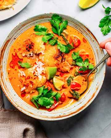 Crispy Rice with Red Curry