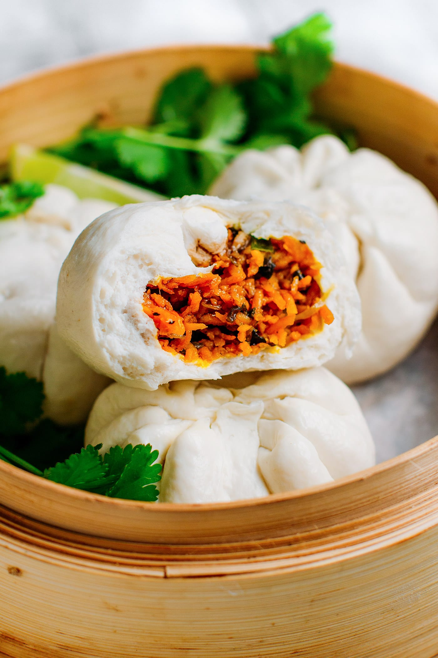 Sweet Potato Steamed Buns (Bao)