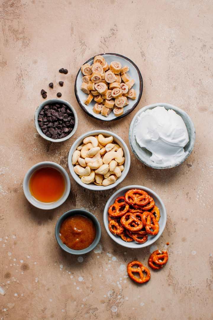 Cinnamon Bun Pretzel Vanilla Ice Cream (Vegan + GF)