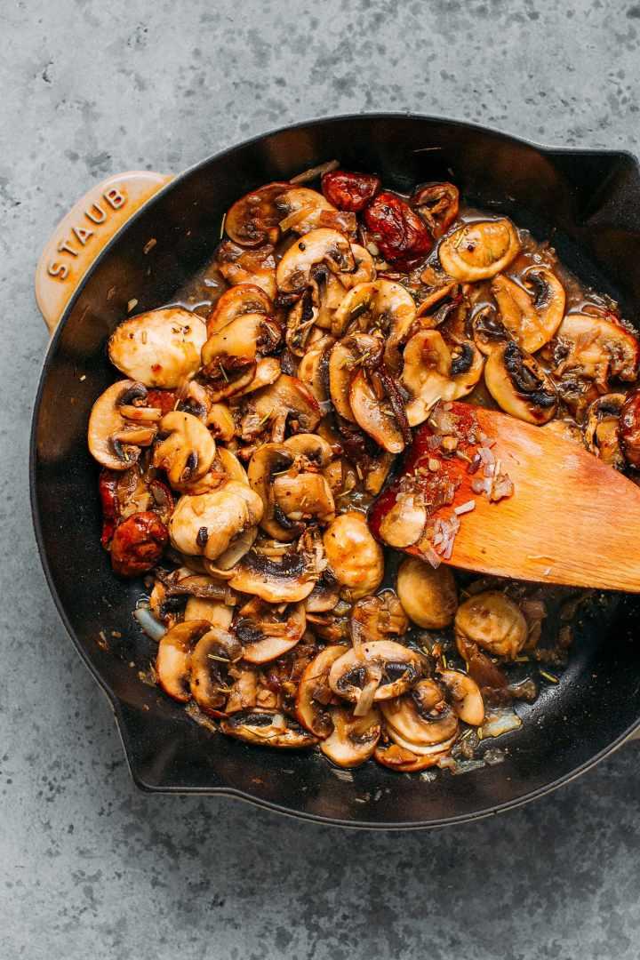 Buckwheat Crêpes with Hummus Mushrooms