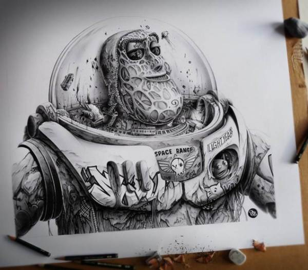 Graffiti Pencil Drawings