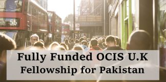 Fully Funded OCIS U.K Fellowship for Pakistan