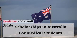 Medical Scholarships: Pro Vice Chancellor's Scholarship in Australia