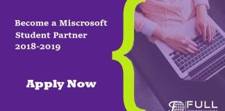 Microsoft Students Partner 2018-19