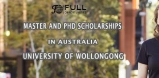 Master and PhD Scholarships in Australia, University of Wollongong